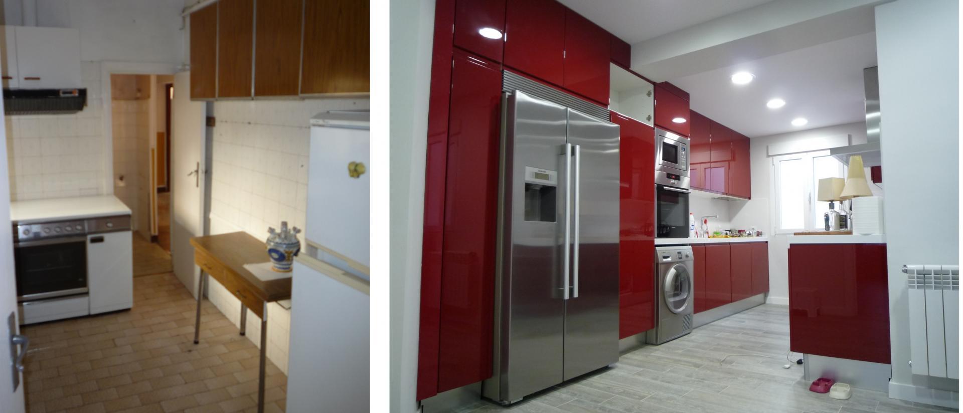 Reforma integral y unificaci n de espacios for Cocinas alicatadas