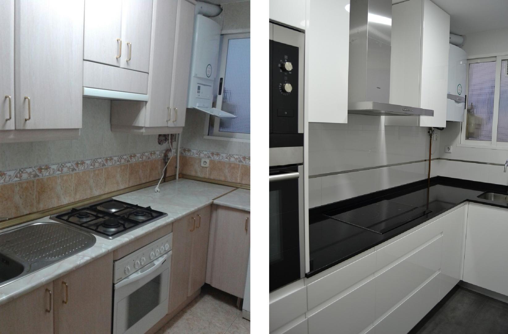 Baños Con Ducha Reformados:Cocina y Baño reformados en Barrio Chamartín