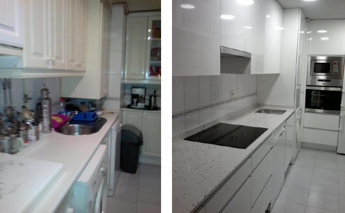 Reforma de cocina for Reforma piso pequeno antes y despues