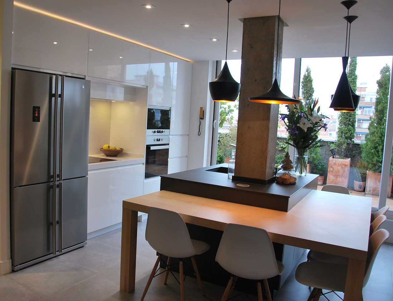 Incorporar cocina al sal n for Cocinas en terrazas