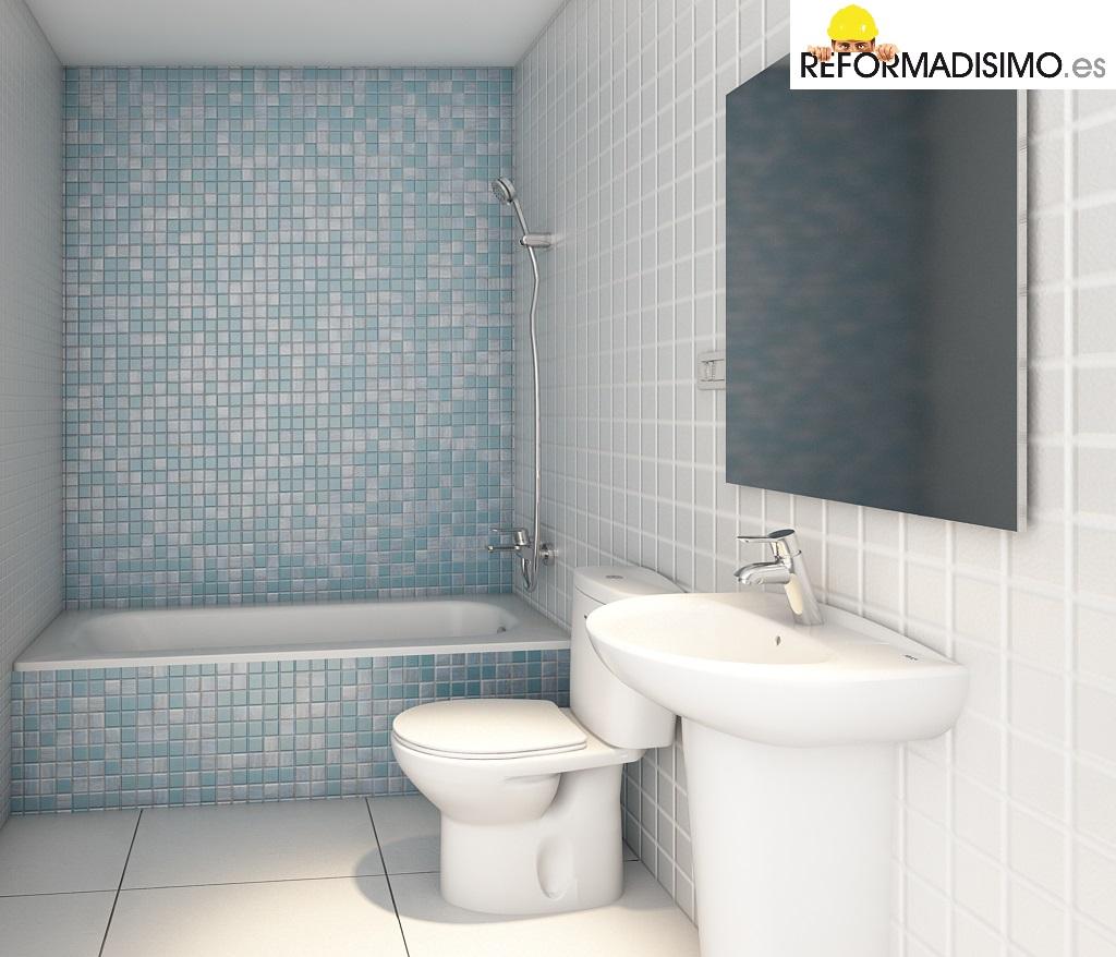 Reformas ba os madrid - Papel para azulejos de bano ...