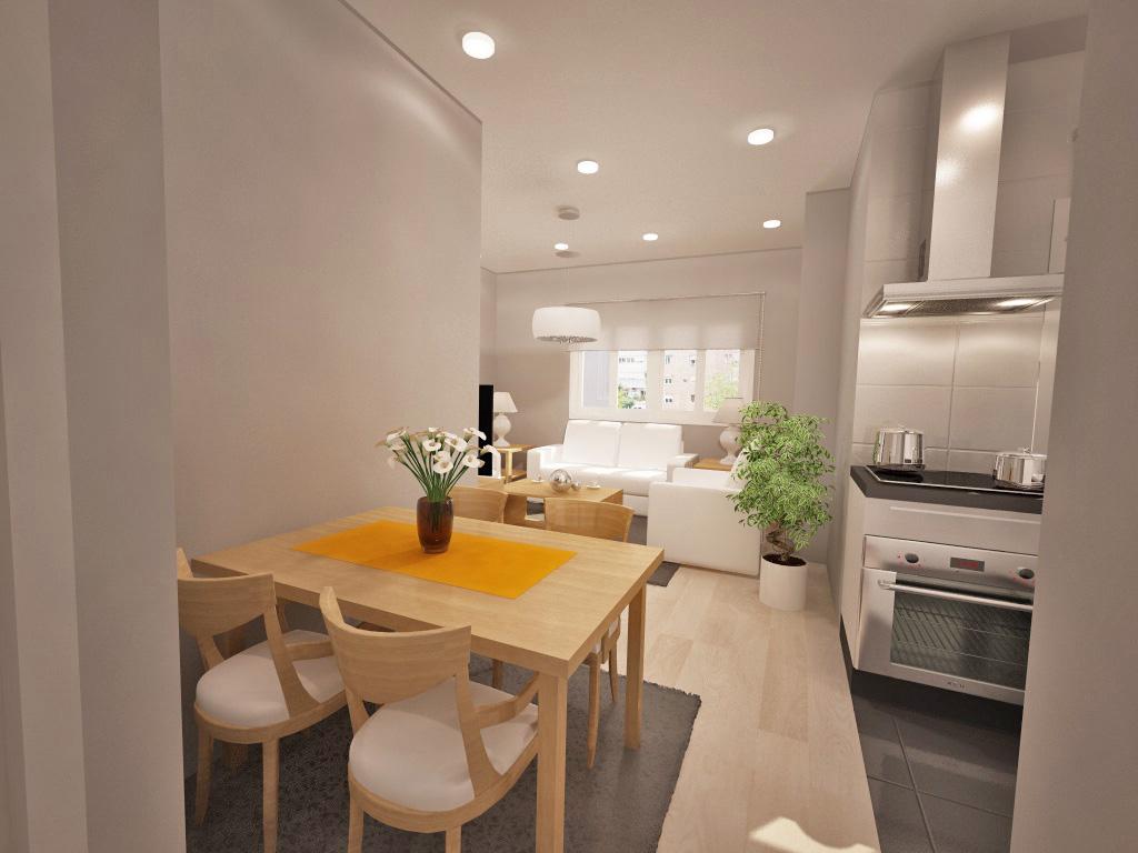 Salon cocina comedor integrados beautiful comedor for Cocinas con salon integrado