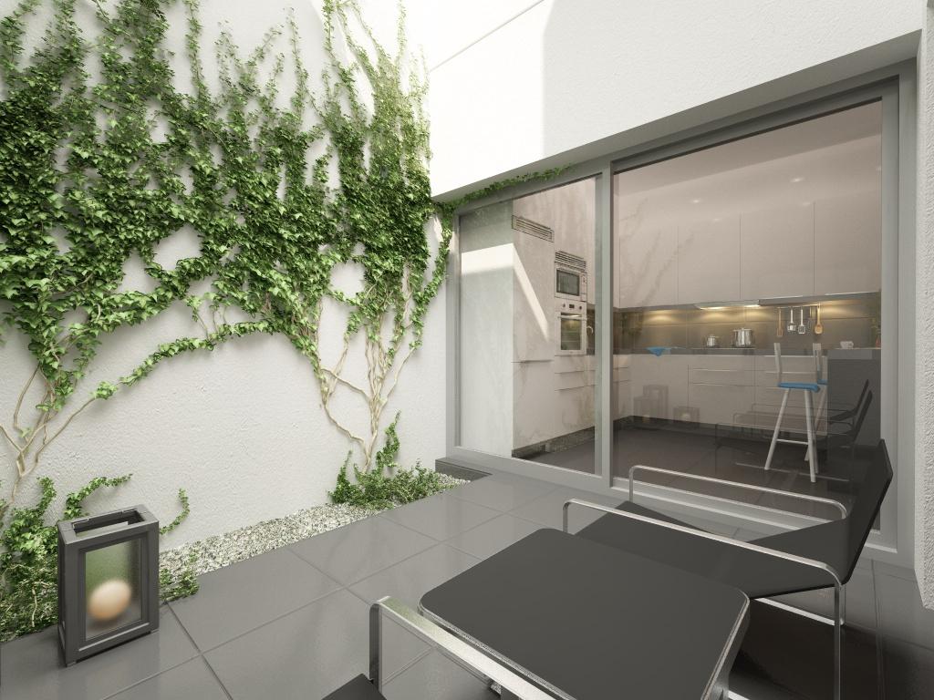 Recreaci n virtual reformar sal n con terraza exterior - Reformas de terrazas ...