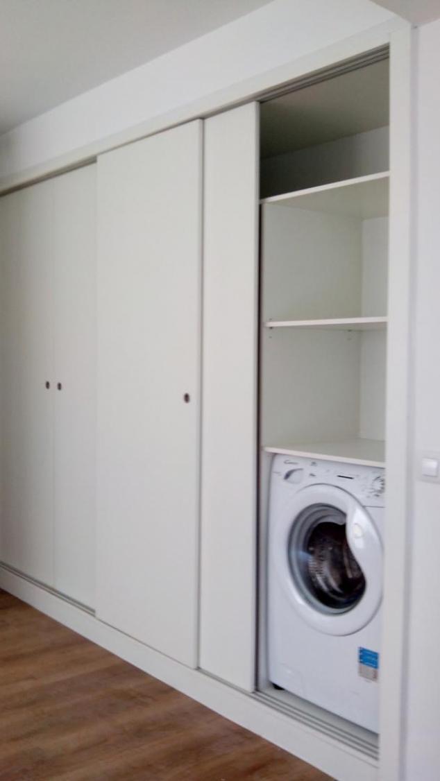 Reforma integral en el barrio tetu n de madrid - Armario para lavadora ...